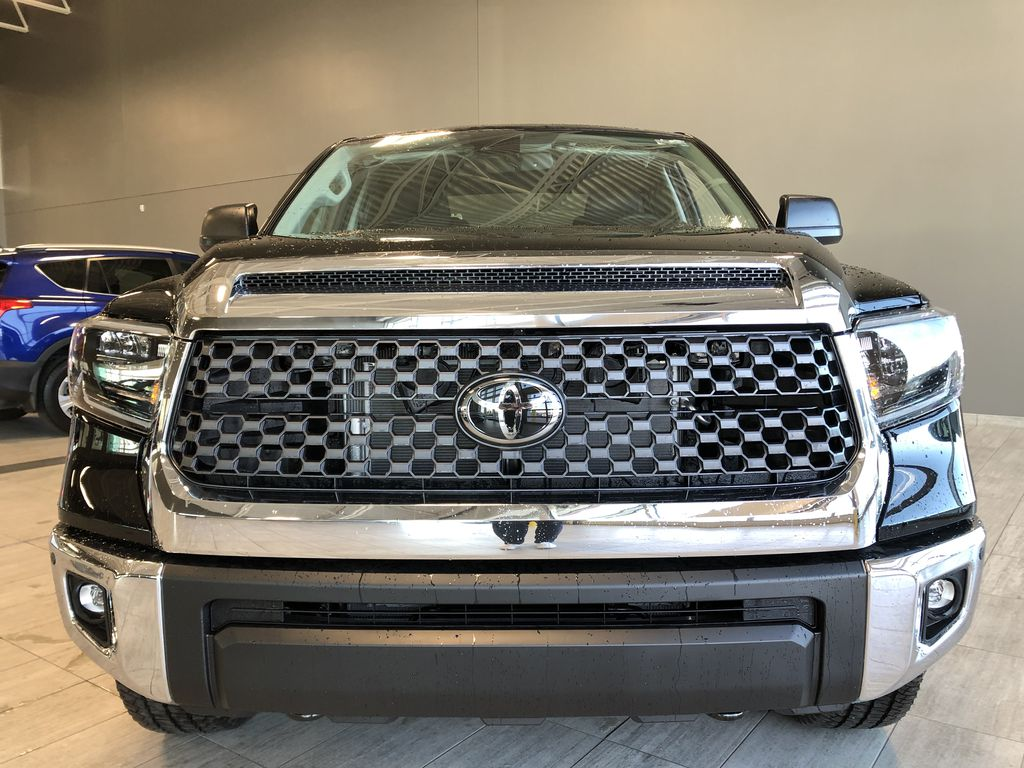 Midnight Black Metallic 2021 Toyota Tundra 4WD Crewmax TRD Off Road Odometer Photo in Edmonton AB