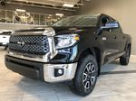 Midnight Black Metallic 2021 Toyota Tundra 4WD Crewmax TRD Off Road Left Side Rear Seat  Photo in Edmonton AB