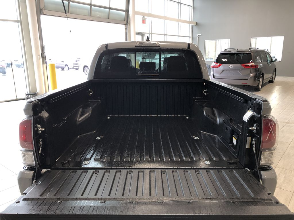 Cement Grey Metallic 2020 Toyota Tacoma 4x4 Double Cab TRD Off Road (Short Box) Rear of Vehicle Photo in Edmonton AB