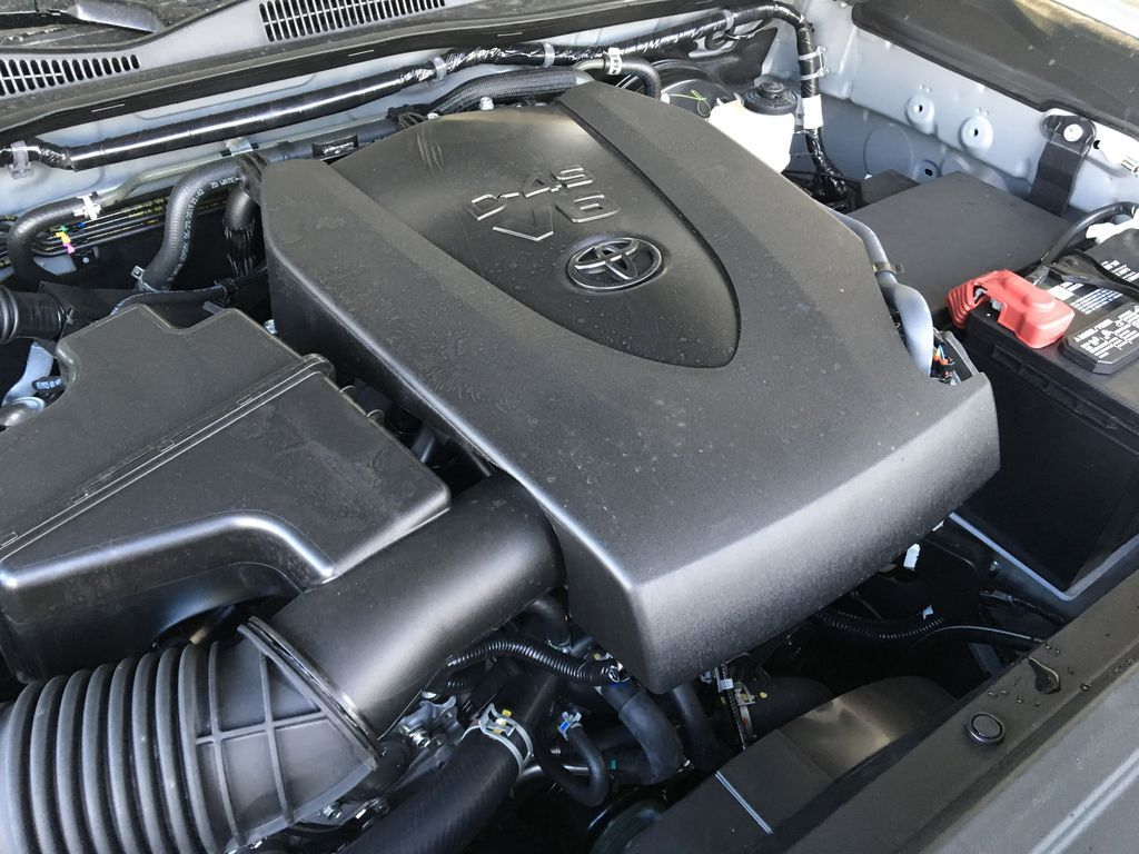 Gray[Cement] 2021 Toyota Tacoma 4WD Engine Compartment Photo in Kelowna BC