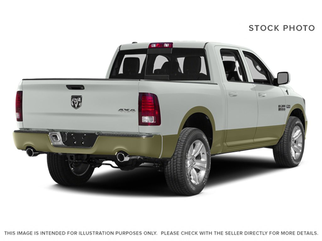 White[Bright White Clearcoat] 2014 Ram 1500 Right Rear Corner Photo in Fort Macleod AB