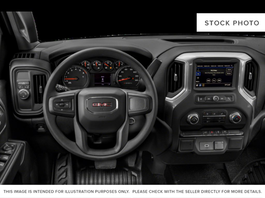 White[White Frost Tricoat] 2019 GMC Sierra 1500 Steering Wheel and Dash Photo in Fort Macleod AB