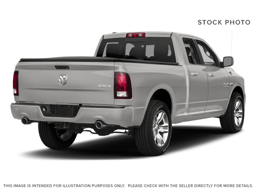 Silver[Bright Silver Metallic] 2017 Ram 1500 Right Rear Corner Photo in Fort Macleod AB