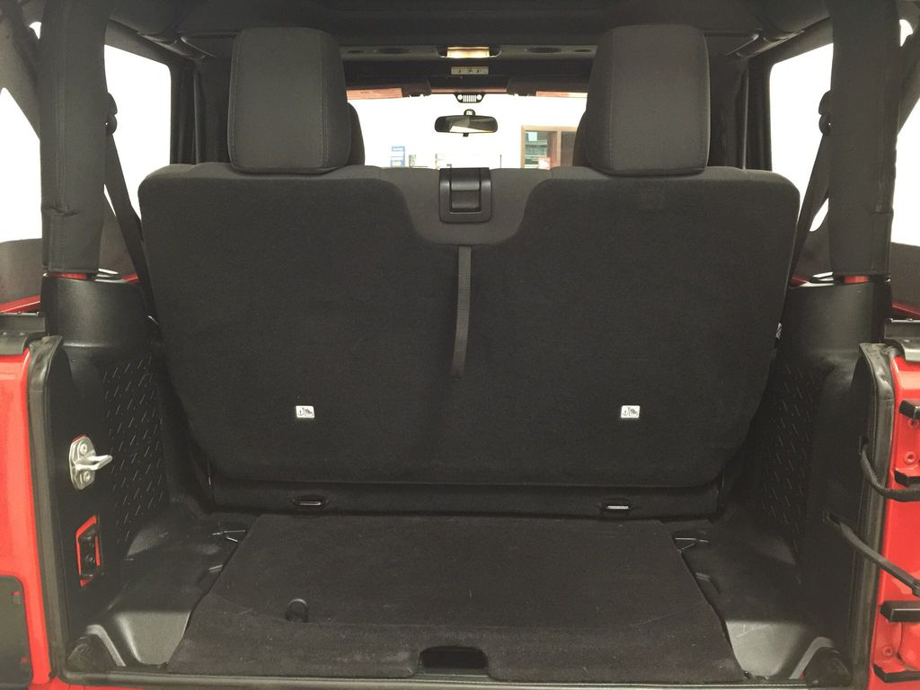 Red[Firecracker Red] 2017 Jeep Wrangler Cargo Area/Rear Seats Photo in Sherwood Park AB