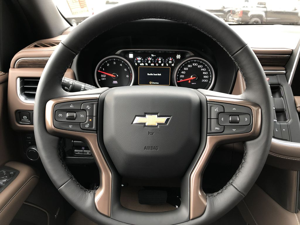 Black[Black] 2021 Chevrolet Tahoe Strng Wheel: Frm Rear in Edmonton AB
