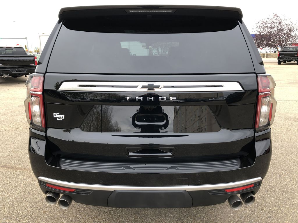 Black[Black] 2021 Chevrolet Tahoe Rear of Vehicle Photo in Edmonton AB