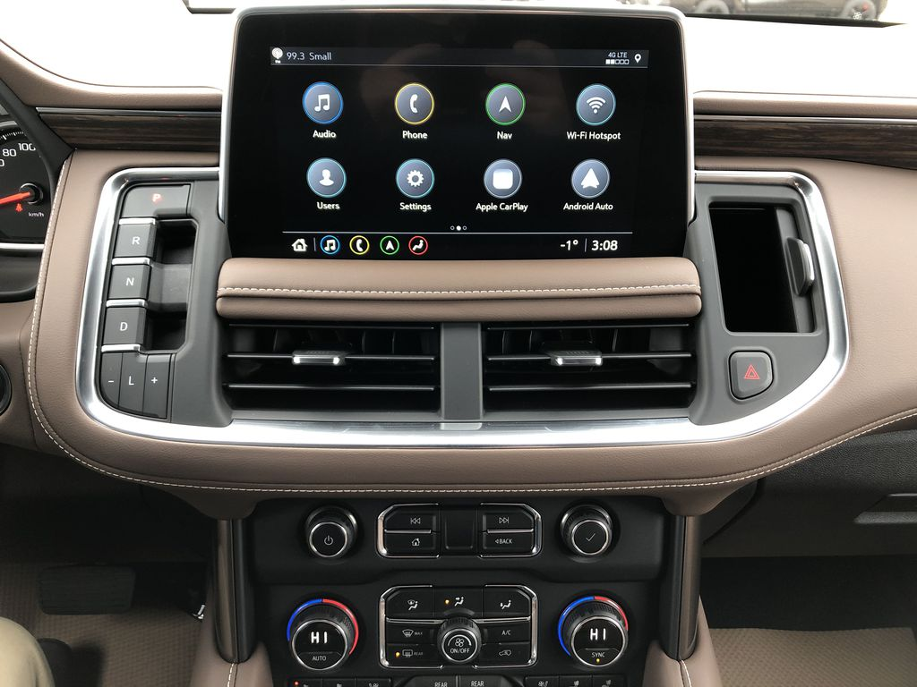Black[Black] 2021 Chevrolet Tahoe Central Dash Options Photo in Edmonton AB