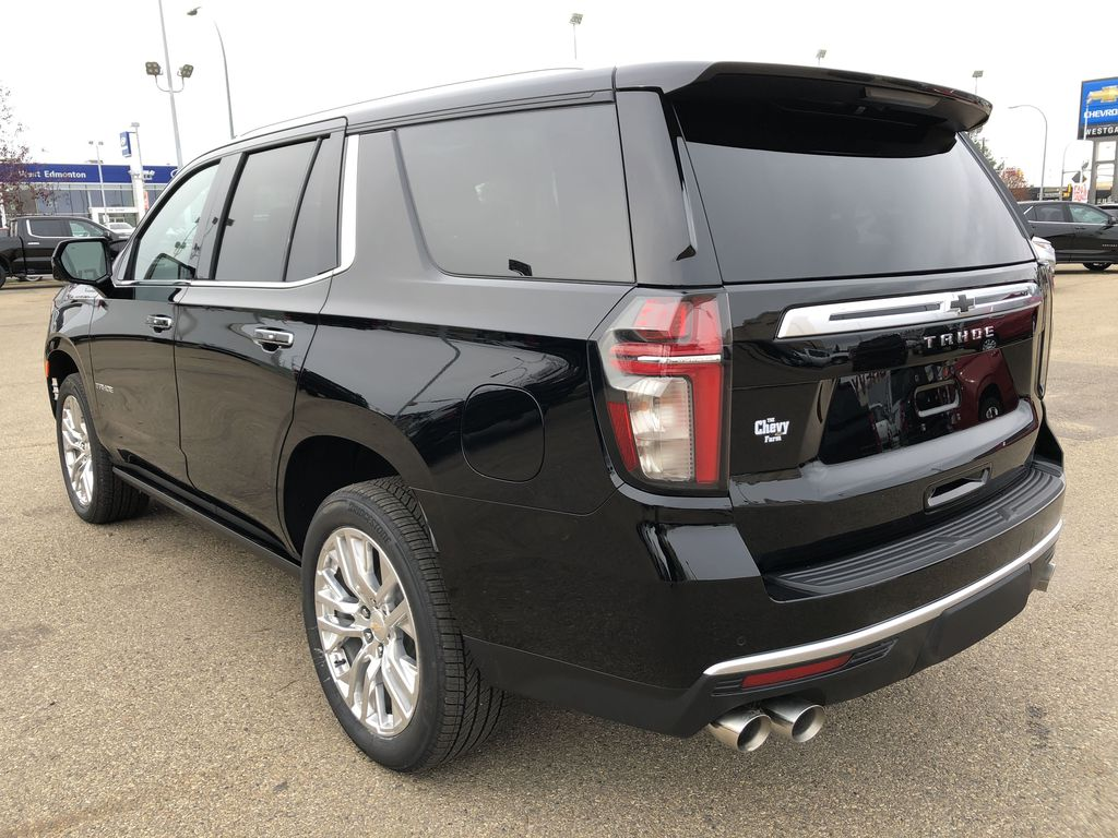Black[Black] 2021 Chevrolet Tahoe Left Rear Corner Photo in Edmonton AB