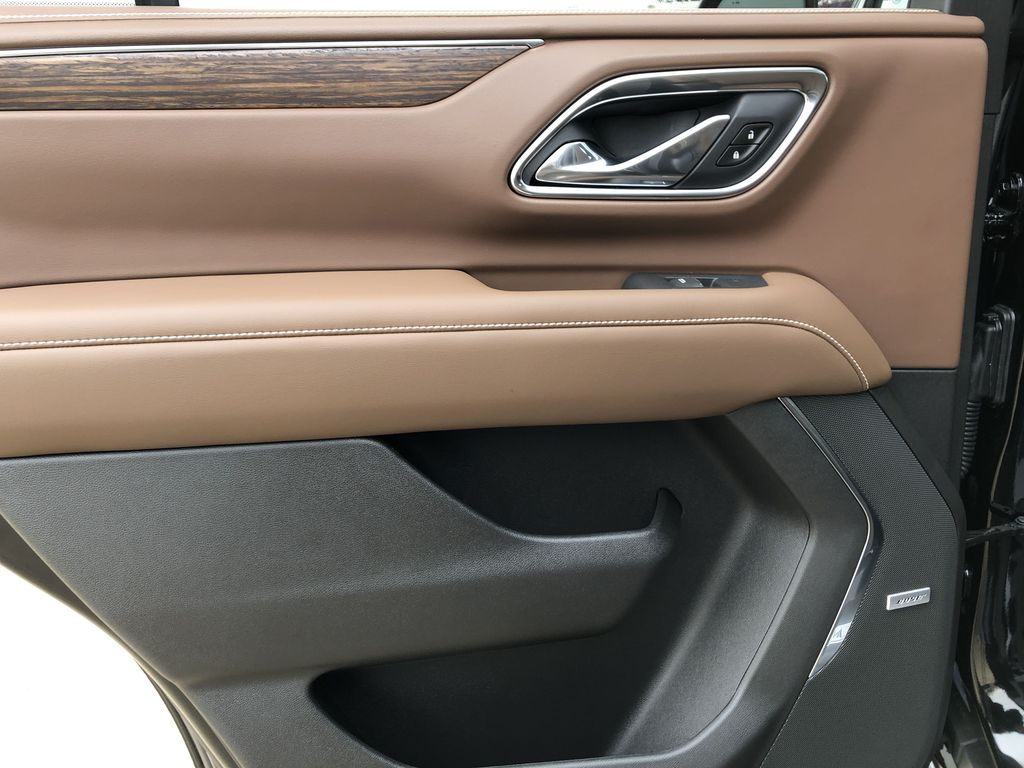 Black[Black] 2021 Chevrolet Tahoe Left Rear Interior Door Panel Photo in Edmonton AB