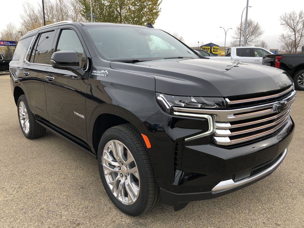 Black[Black] 2021 Chevrolet Tahoe Right Front Corner Photo in Edmonton AB