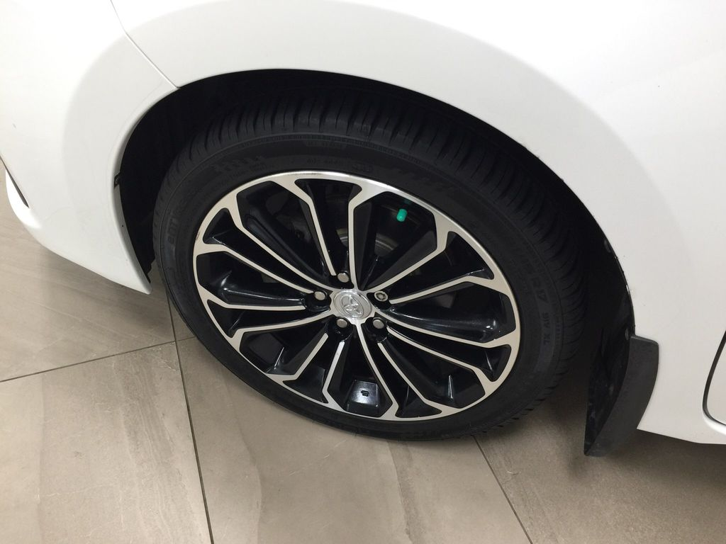 White[Alpine White] 2014 Toyota Corolla S Upgrade Left Front Rim and Tire Photo in Sherwood Park AB