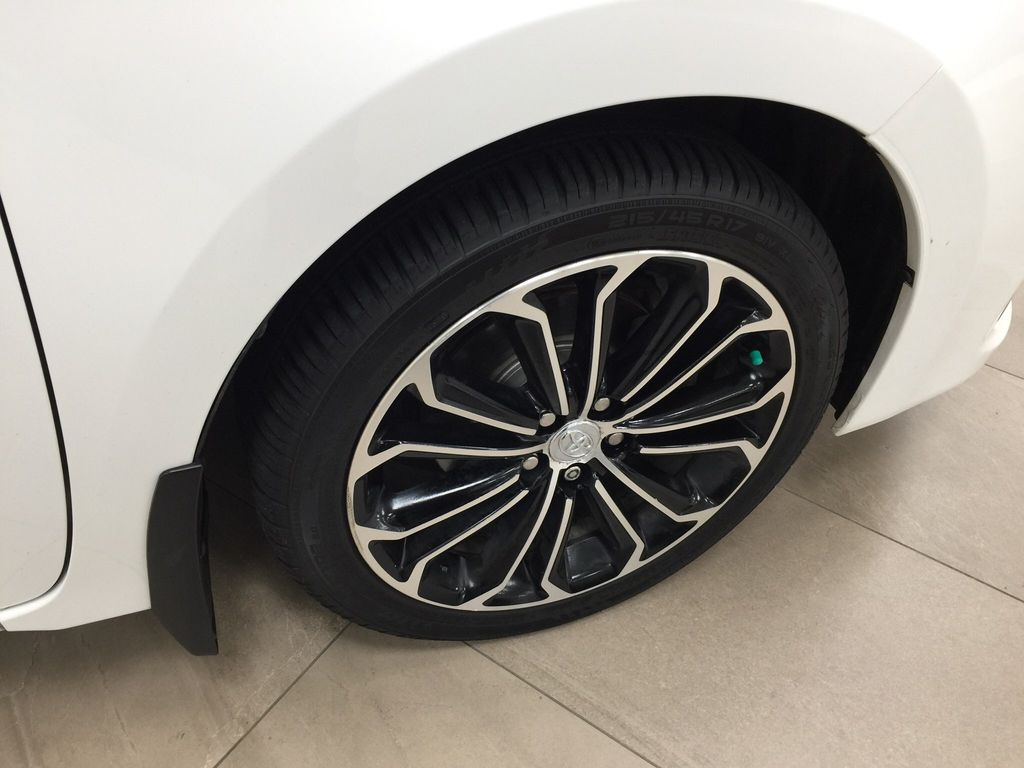 White[Alpine White] 2014 Toyota Corolla S Upgrade Right Front Rim and Tire Photo in Sherwood Park AB