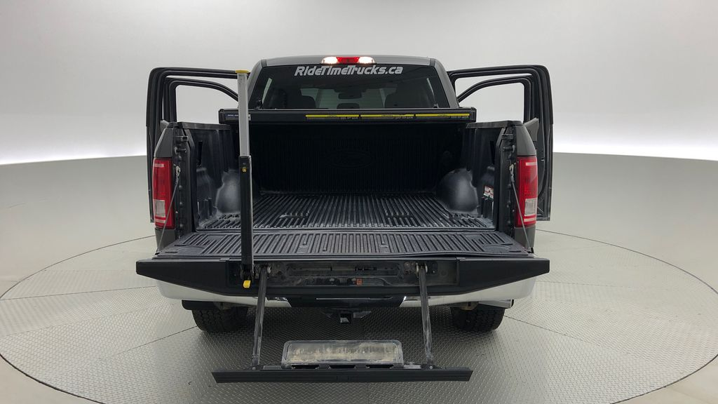 Gray[Magnetic] 2016 Ford F-150 XLT XTR 4WD - SuperCrew, V6, Running Boards Box / Cargo Area Photo in Winnipeg MB