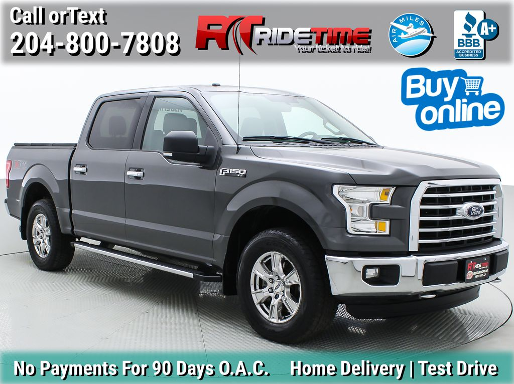 Gray[Magnetic] 2016 Ford F-150 XLT XTR 4WD - SuperCrew, V6, Running Boards