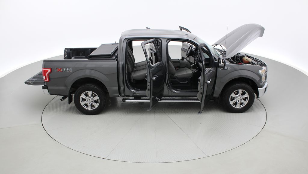 Gray[Magnetic] 2016 Ford F-150 XLT XTR 4WD - SuperCrew, V6, Running Boards Right Side Photo in Winnipeg MB