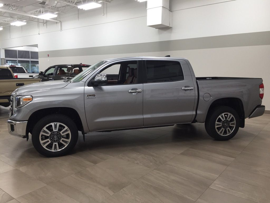Silver[Silver Sky Metallic] 2021 Toyota Tundra 1794 Left Side Photo in Sherwood Park AB