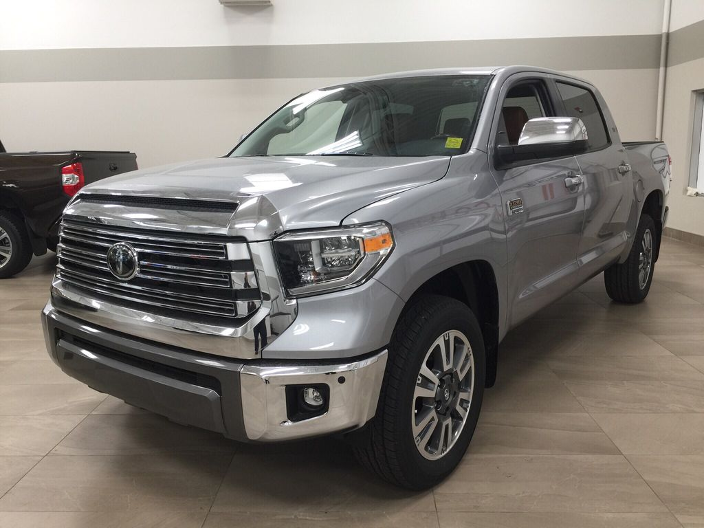 Silver[Silver Sky Metallic] 2021 Toyota Tundra 1794 Left Front Corner Photo in Sherwood Park AB