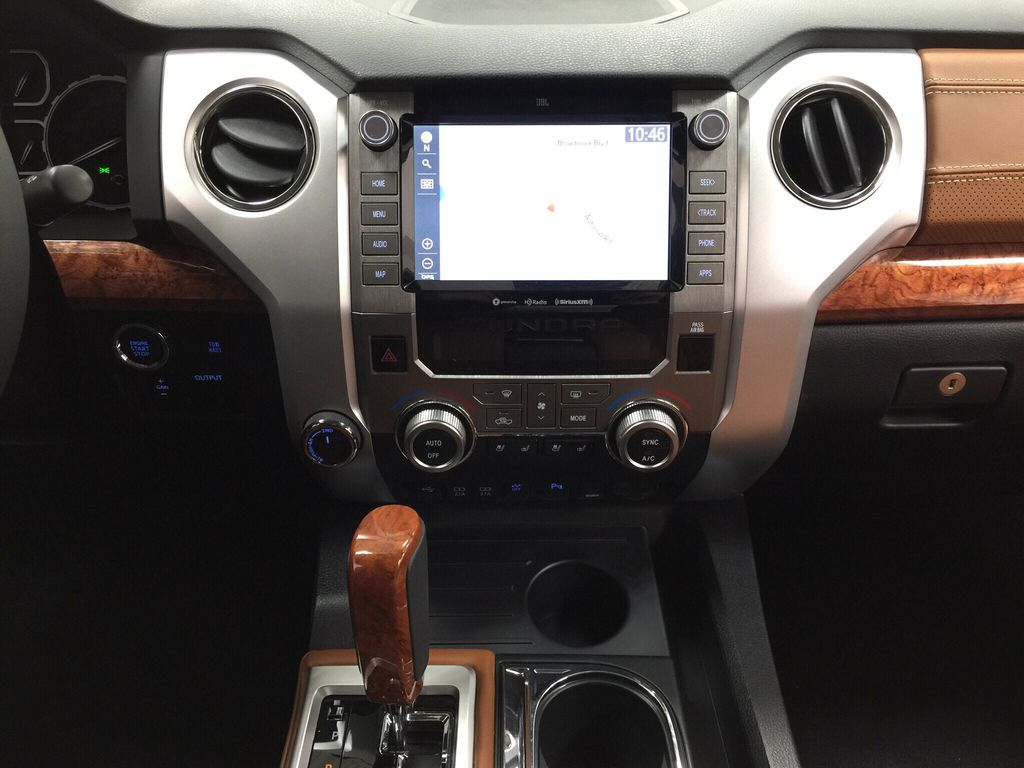 Silver[Silver Sky Metallic] 2021 Toyota Tundra 1794 Central Dash Options Photo in Sherwood Park AB