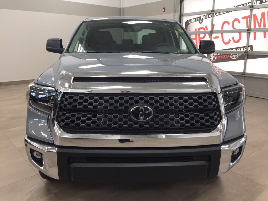 Gray[Cement Grey Metallic] 2021 Toyota Tundra TRD Off-Road Premium Front Vehicle Photo in Sherwood Park AB