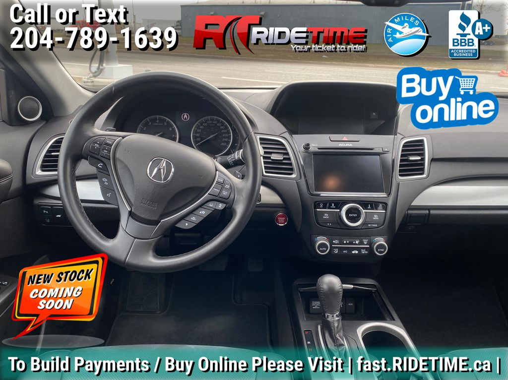 Black[Crystal Black Pearl] 2017 Acura RDX Elite AWD - Local MB Vehicle, Clean One Owner CarFax Central Dash Options Photo in Winnipeg MB
