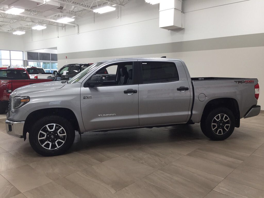 Silver[Silver Sky Metallic] 2021 Toyota Tundra TRD Off-Road Premium Left Side Photo in Sherwood Park AB