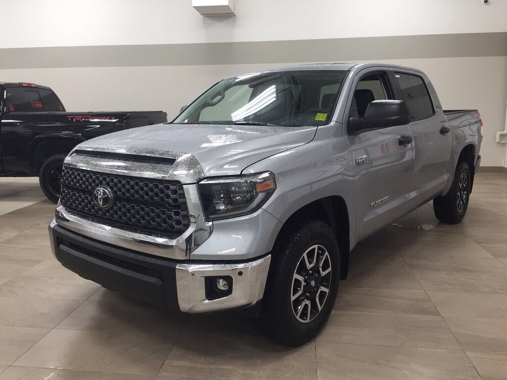 Silver[Silver Sky Metallic] 2021 Toyota Tundra TRD Off-Road Premium Left Front Corner Photo in Sherwood Park AB