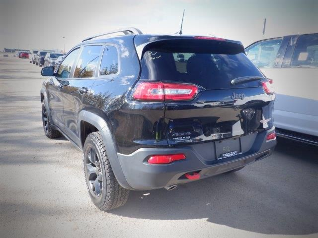 Black[Diamond Black Crystal Pearl] 2018 Jeep CherokeeTrailhawk 4x4 *Heated Seats/Wheel* *Remote Start* NAV* Left Rear Corner Photo in Brandon MB
