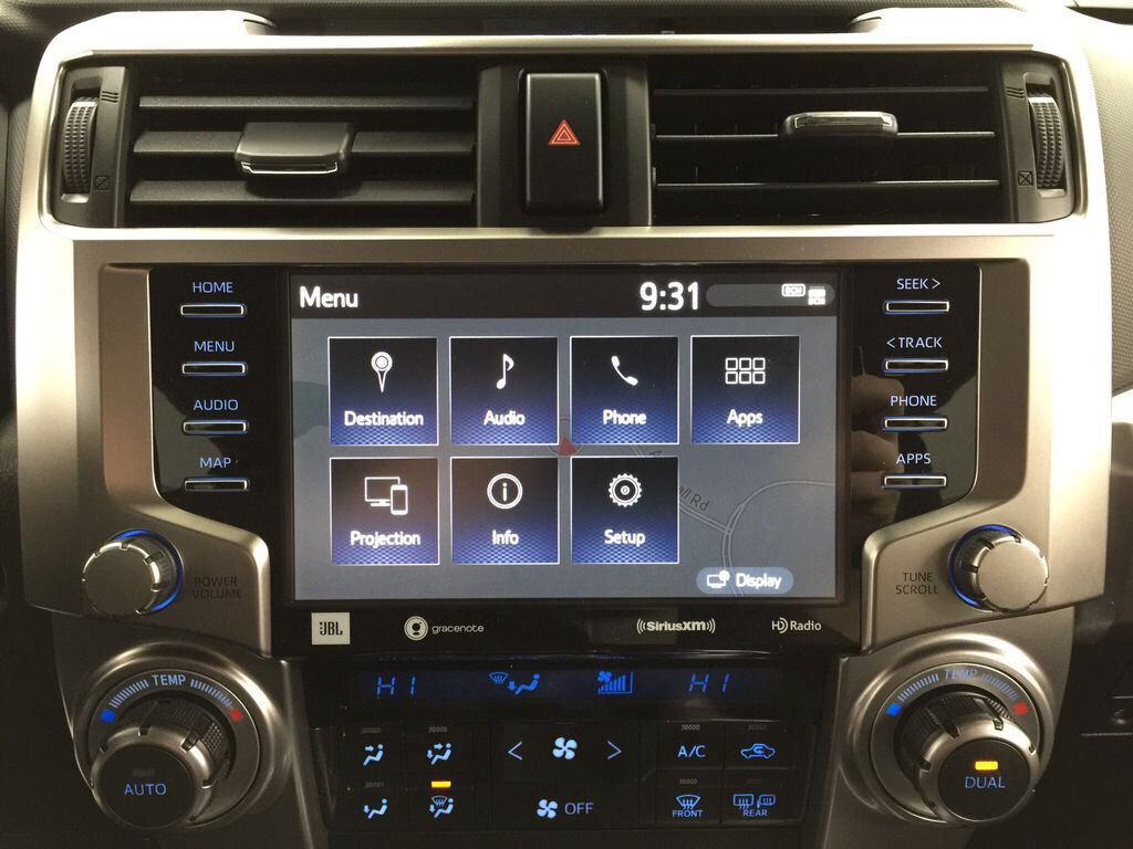 Gray[Magnetic Grey Metallic] 2021 Toyota 4Runner Limited Infotainment Closeup Photo in Sherwood Park AB