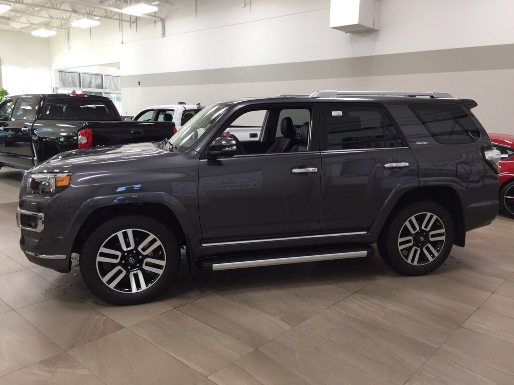 Gray[Magnetic Grey Metallic] 2021 Toyota 4Runner Limited Left Side Photo in Sherwood Park AB