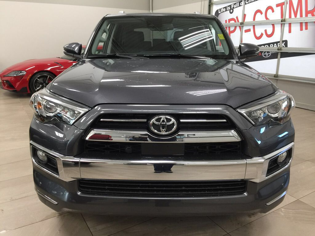 Gray[Magnetic Grey Metallic] 2021 Toyota 4Runner Limited Front Vehicle Photo in Sherwood Park AB