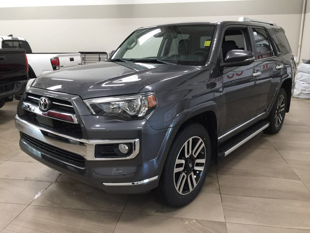 Gray[Magnetic Grey Metallic] 2021 Toyota 4Runner Limited Left Front Corner Photo in Sherwood Park AB