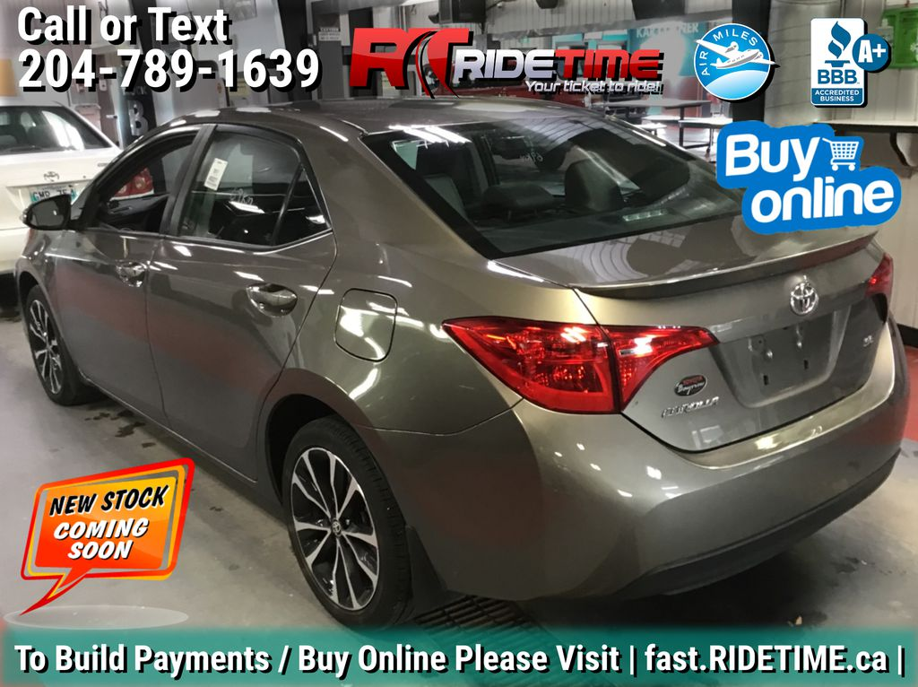 Gray[Falcon Gray Metallic] 2017 Toyota Corolla SE - Automatic, Backup Cam, Heated Seats, Sunroof Left Rear Corner Photo in Winnipeg MB