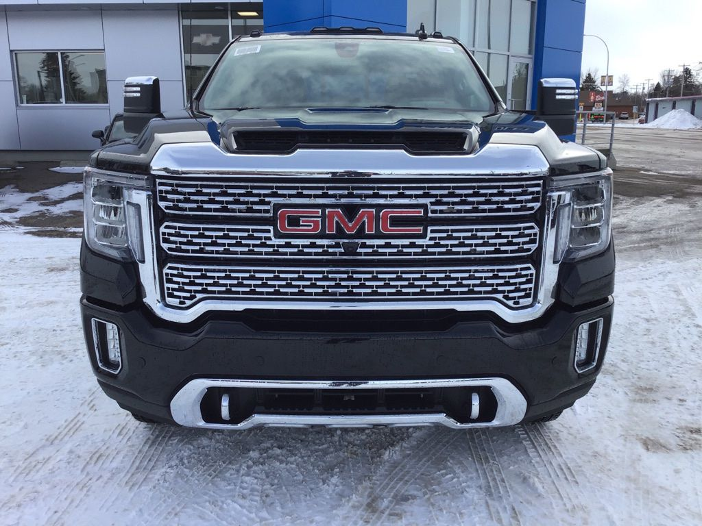 Black 2020 GMC Sierra 3500HD Left Front Head Light / Bumper and Grill in Brooks AB