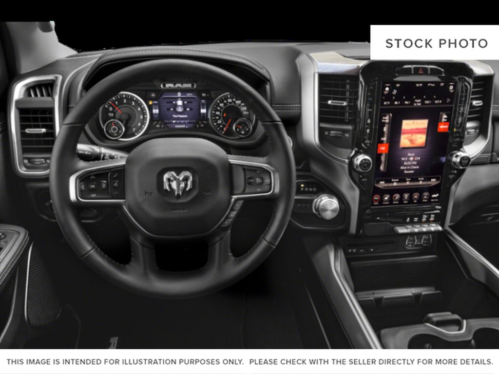 White[Bright White] 2021 Ram 1500 Steering Wheel and Dash Photo in Yarmouth NS