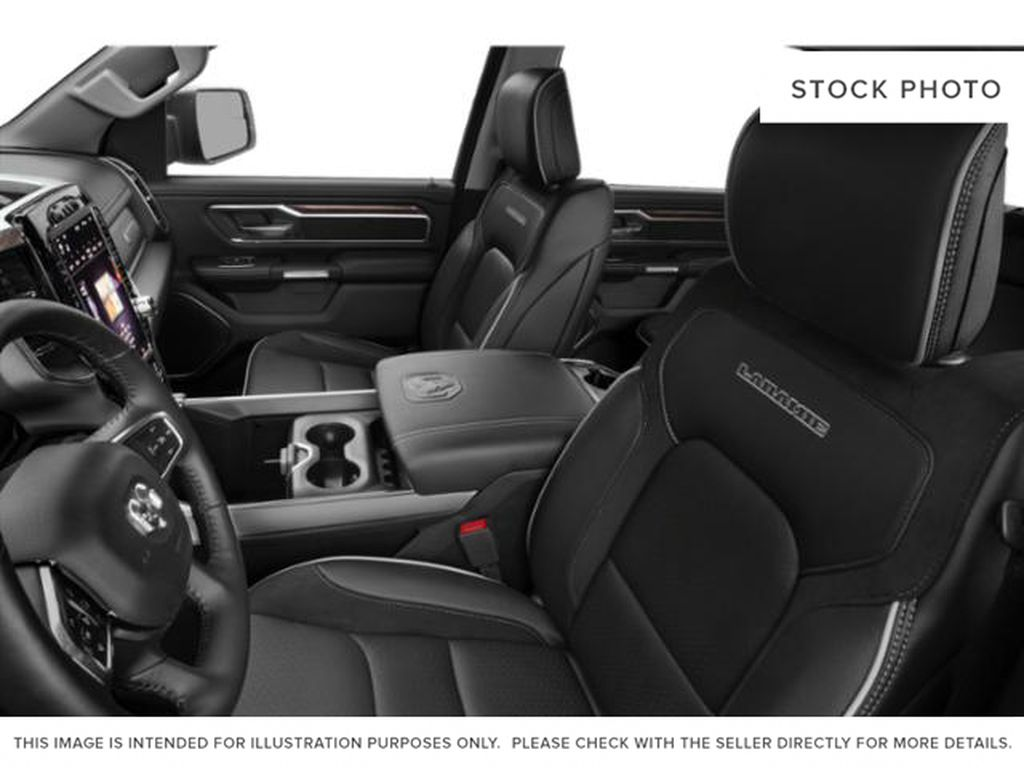 White[Bright White] 2021 Ram 1500 Left Front Interior Photo in Yarmouth NS
