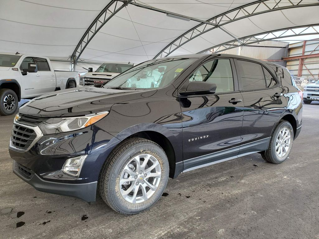 Blue 2021 Chevrolet Equinox Steering Wheel and Dash Photo in Airdrie AB