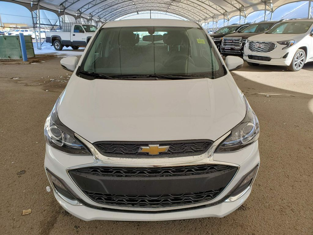 White 2021 Chevrolet Spark Left Front Corner Photo in Airdrie AB