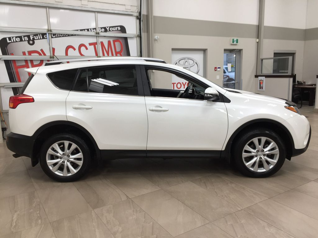 White[Blizzard Pearl] 2014 Toyota RAV4 Limited Right Side Photo in Sherwood Park AB