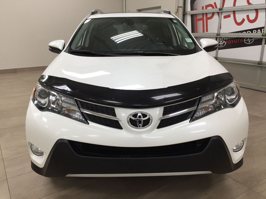White[Blizzard Pearl] 2014 Toyota RAV4 Limited Front Vehicle Photo in Sherwood Park AB