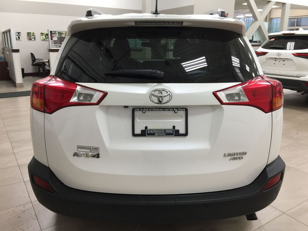 White[Blizzard Pearl] 2014 Toyota RAV4 Limited Rear of Vehicle Photo in Sherwood Park AB