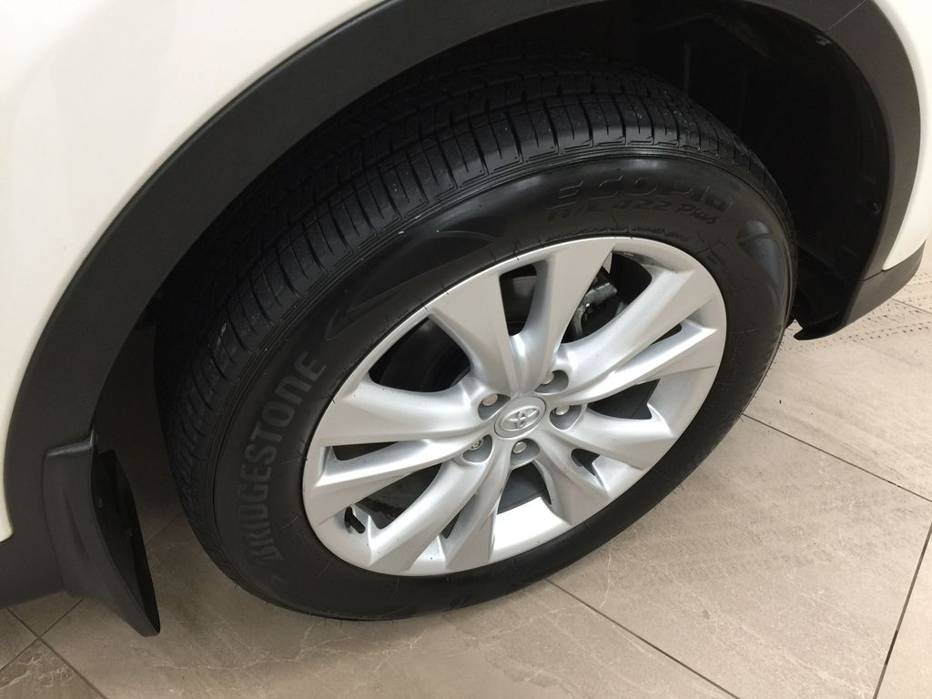 White[Blizzard Pearl] 2014 Toyota RAV4 Limited Right Front Rim and Tire Photo in Sherwood Park AB