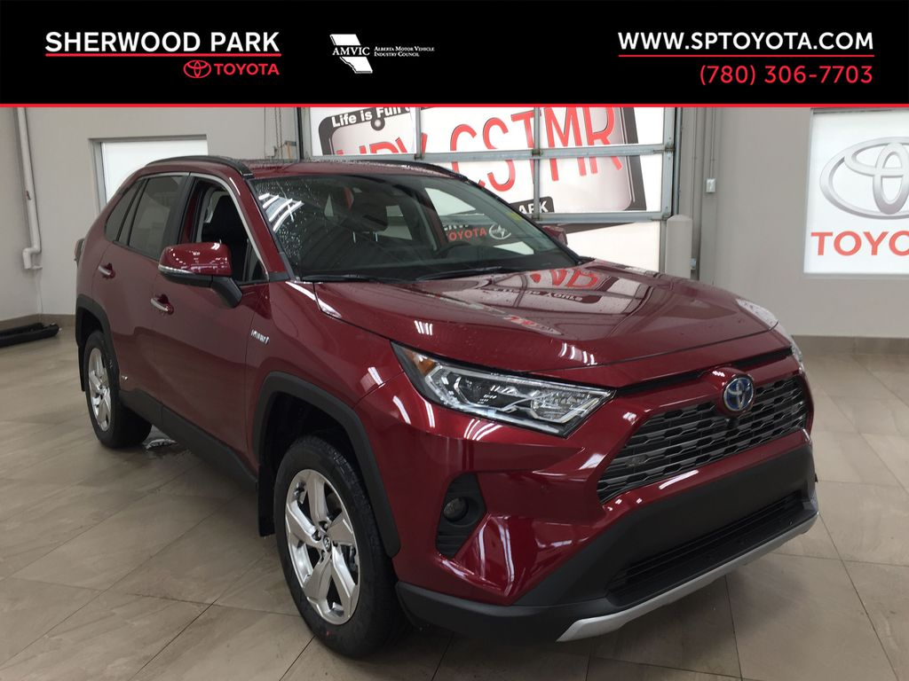 Red[Ruby Flare Pearl] 2021 Toyota RAV4 Limited Hybrid