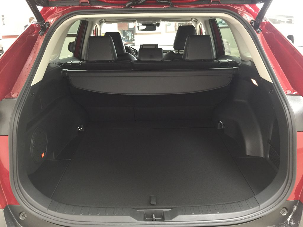 Red[Ruby Flare Pearl] 2021 Toyota RAV4 Limited Hybrid Cargo Area/Rear Seats Photo in Sherwood Park AB