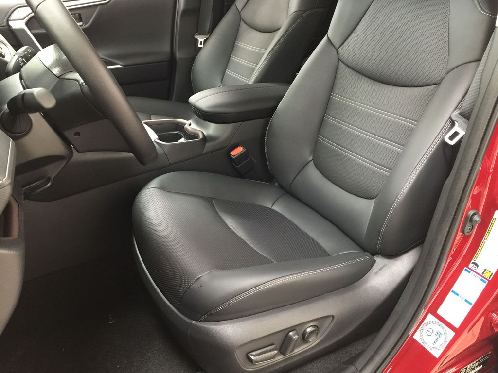 Red[Ruby Flare Pearl] 2021 Toyota RAV4 Limited Hybrid Left Front Interior Photo in Sherwood Park AB