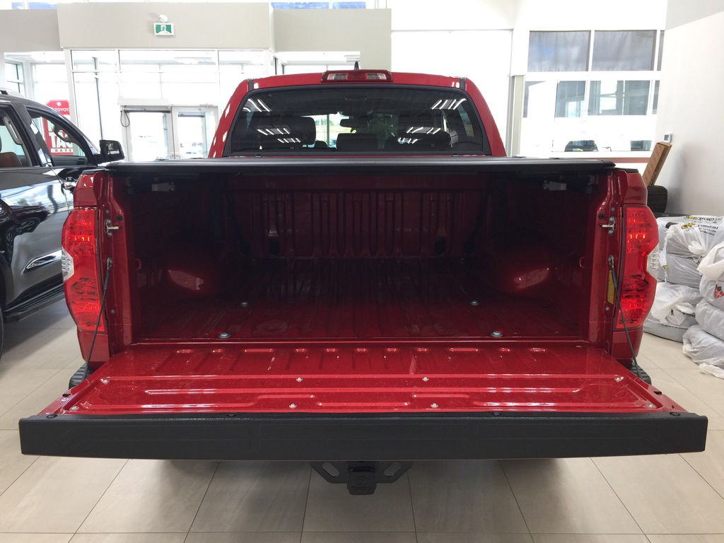 Red[Barcelona Red Metallic] 2021 Toyota Tundra TRD Off-Road Cargo Area/Rear Seats Photo in Sherwood Park AB