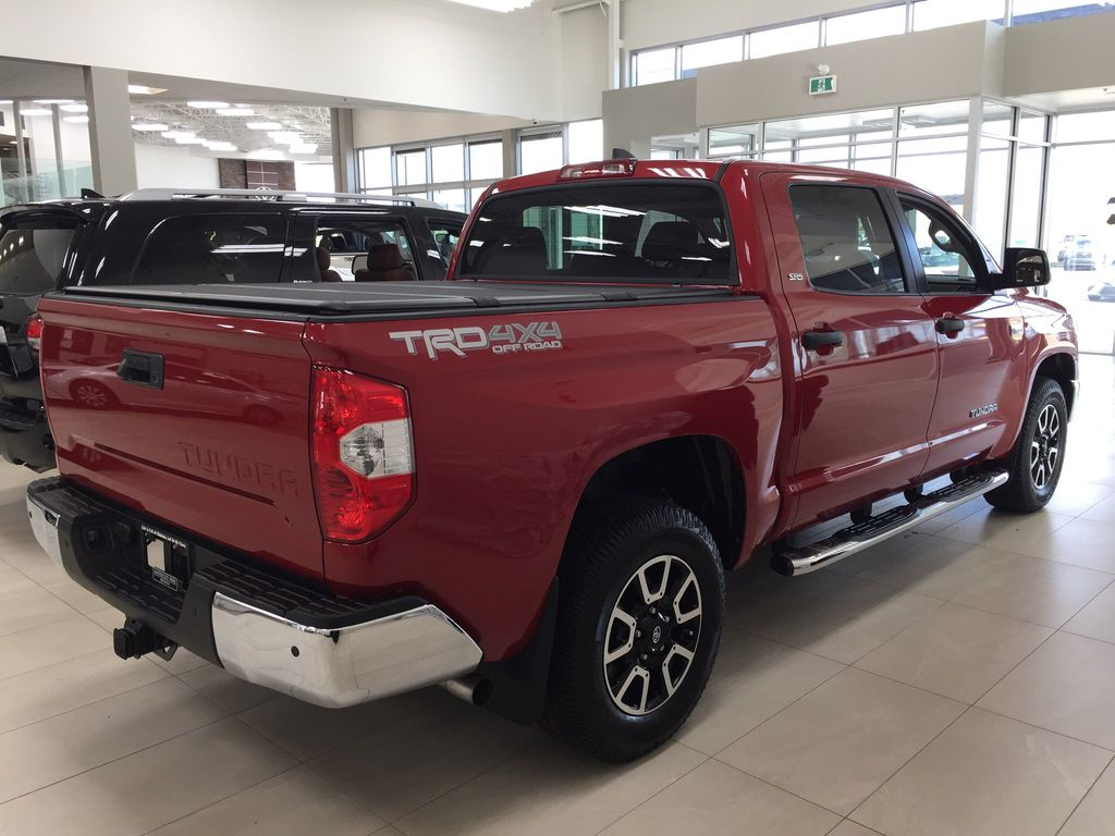 Red[Barcelona Red Metallic] 2021 Toyota Tundra TRD Off-Road Right Side Photo in Sherwood Park AB