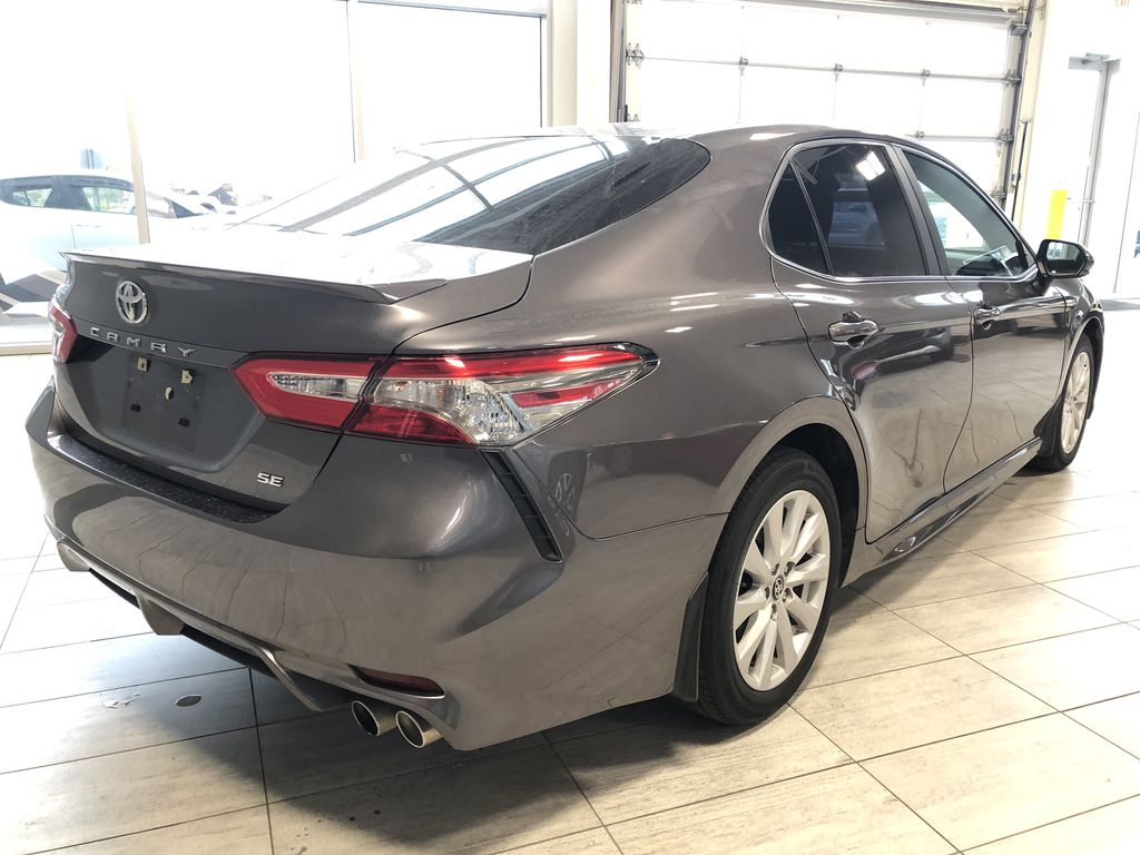 Grey 2019 Toyota Camry SE | Toyota Certified Rear of Vehicle Photo in Edmonton AB