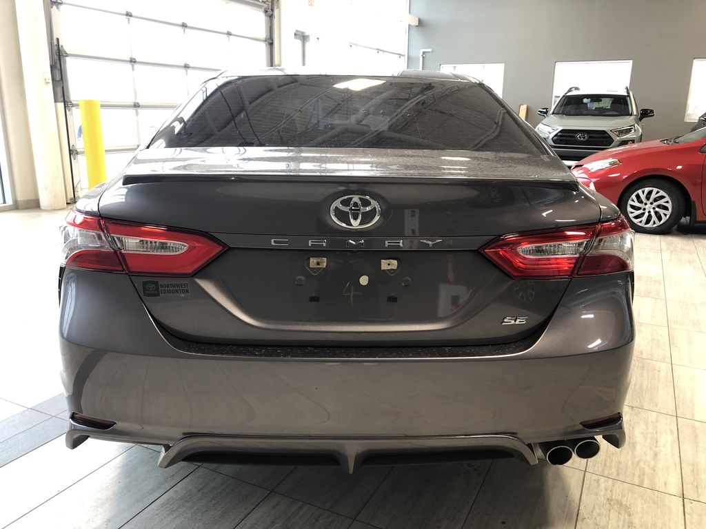 Grey 2019 Toyota Camry SE | Toyota Certified Trunk / Cargo Area Photo in Edmonton AB