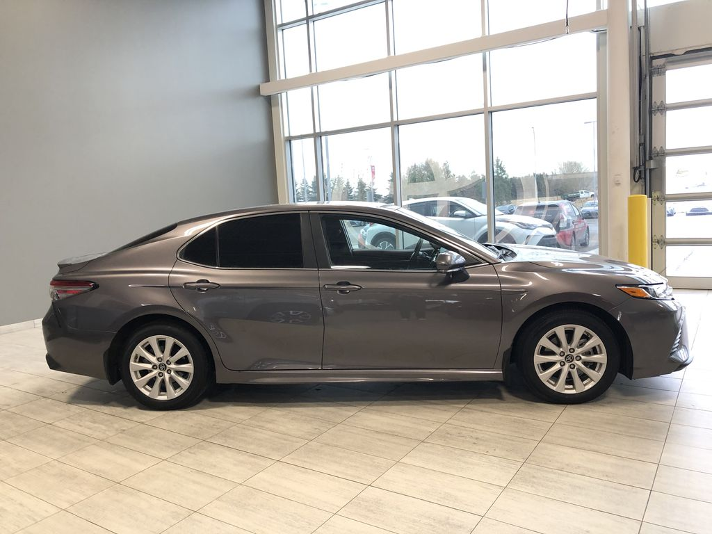 Grey 2019 Toyota Camry SE | Toyota Certified Right Rear Corner Photo in Edmonton AB
