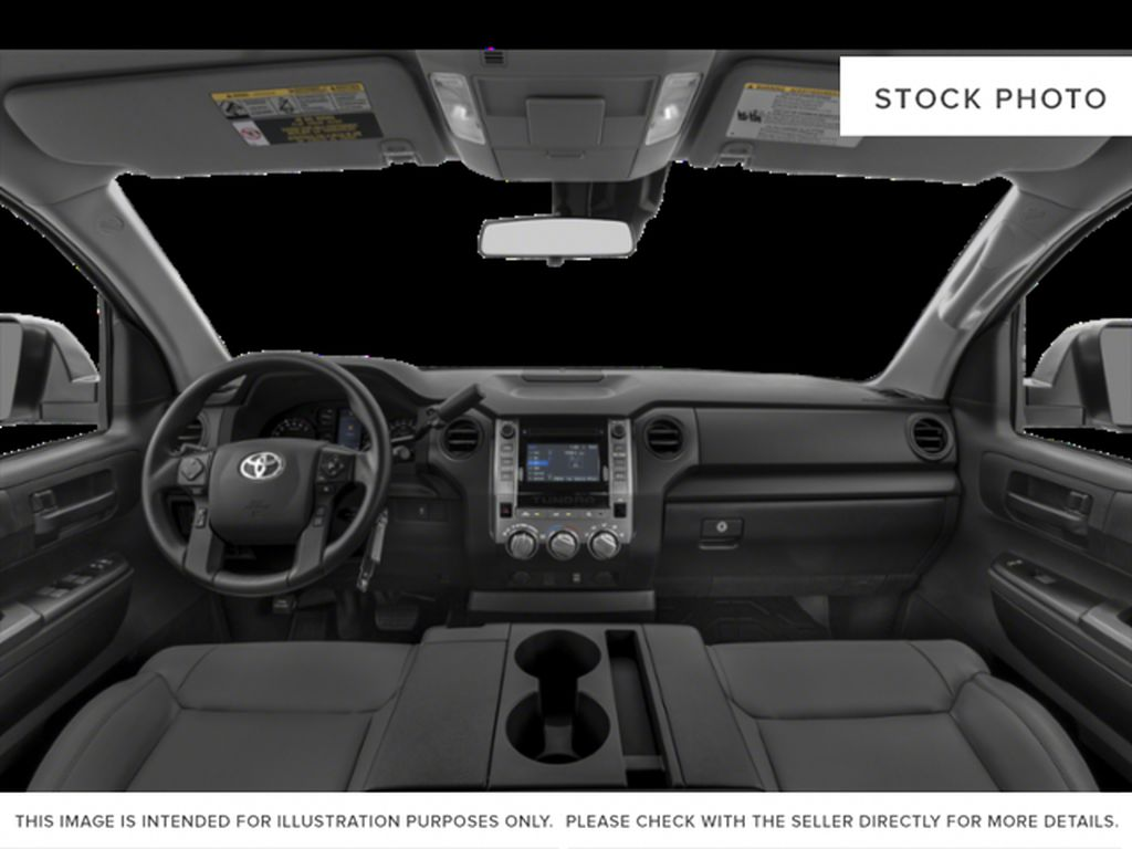 Cement Grey Metallic 2021 Toyota Tundra Double Cab TRD Off Road Front Seats and Dash Photo in Edmonton AB
